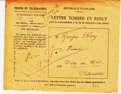 France , Lettre Tombée Au Rebut En Juin 1920, Avec Enveloppe à L'intérieur TB - 1877-1920: Periodo Semi Moderno
