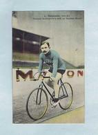 CPA Cyclisme Édition M. Rosenberg, Bruxelles. Louis TROUSSELIER Français Vainqueur Bordeaux-Paris Sur Bicyclette Alcyon - Wielrennen