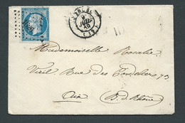 LSC Affr. / Yvert N° 14  , Oblitéré Petits Chiffres 11626 ( Lambesc ) 9/07/1859      AX 14704 - 1853-1860 Napoléon III.