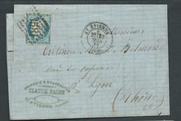 LaC Affr. / Yvert N°60   Obl. Gros Chiffres  3581  ( St Etienne ) 25/06/1871  AX 14706 - 1871-1875 Ceres