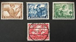 1933 Deutsche Nothilfe : Wagner Mi.499*), 500*), 502*), 504 Zentrisch Stempel MONTABAUR - Ohne Zuordnung