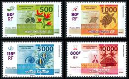 WALLIS ET FUTUNA 2014 - Yv. 806 à 809 **  - Nouveaux Billets (4 Val.)  ..Réf.W&F23485 - Unused Stamps