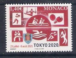 "Monaco (2020) Olympic Games ""Tokyo 2020""; Single Stamp (MNH) - Zomer 2020: Tokio"