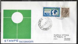 PRIMO VOLO ALITALIA AZ167 - CATANIA/MILANO - 14.5.1963 - STAMPE RACCOMANDATE - BUSTA UFFICIALE - Poste Aérienne