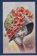 CPA THIELE Arthur Chat Cat Position Humaine Circulé - Thiele, Arthur
