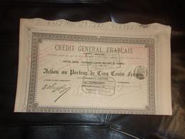 CREDIT GENERAL FRANCAIS (1883) - Unclassified