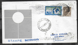 PRIMO VOLO ALITALIA AZ167 CON CARAVELLE - CATANIA/PALERMO - 14.05.1963 - STAMPE RACCOMANDATA - Poste Aérienne