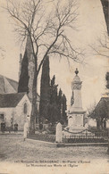 Environs De Bergerac - Saint Pierre D'Eyraud - Monument Aux Morts Et L'église - 1923 - Otros Municipios
