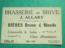 Raymond Poincaré  - Carte PUBLICITAIRE -  Brasserie De Brive  J.ALLARY -  Bières Brune Et Blonde - Limonades Et Sodas - - Persönlichkeiten