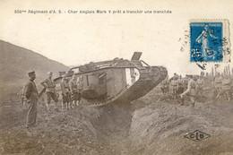25 - Besançon - Militaria -  506 Régiment D'A S - Char Anglais Mark V, Prêt à Franchir Une Tranchée - Besancon