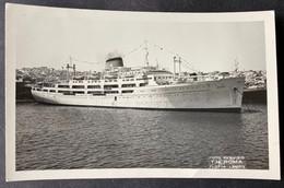 Schiff ,T.N. Roma' Auf Dem Mittelmeer/Fotokarte Ca. 1954 - Steamers