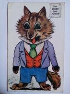 Louis Wain. The Lucky Day Mascot. Oilette. Timbre Taxe - Wain, Louis