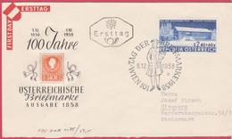 FDC 1958 - Mi 1058 (2) : Tag Der Briefmarke , SST Wien 101 - 1945-60 Brieven