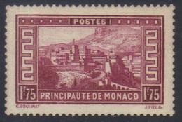 Monaco Timbre Paysage De La Principauté 1 F. 75 Lie-de-vin  N° 128** Neuf - Unused Stamps
