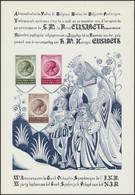 Feuillet De Luxe Spéciale (SLX1, Tirage 200 Exemplaires) - Au Type TP N°991/93. Rare - Hojas De Lujo