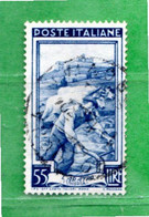 ITALIA ° - 1950 - ITALIA Al LAVORO. Lire 55  Sass. 648. - 1946-60: Used