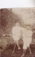 Photo Congo Belge 1911 Elisabethville Lubumbashi En Pleine Foret Militaire Belges Lieutenant Leleux Et Moi Réf 4507 - Africa