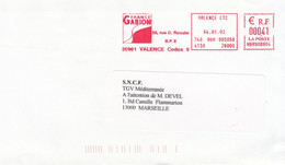 Valence-04/01/2002-France Gabion-Rue G.Rossini - EMA (Empreintes Machines à Affranchir)