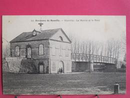 10 - Marcilly - La Mairie Et Le Pont - Environs De Romilly - Excellent état - R/verso - Marcilly