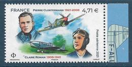 PA 85a Pierre Clostermann / Claire Roman  Du Feuillet De 10 Timbres (2021) Neuf** - 1960-.... Postfris