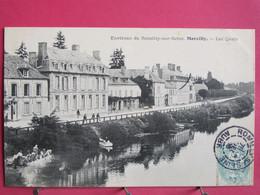 10 - Marcilly - Les Quais - Environs De Romilly Sur Seine - Excellent état - 1905 - R/verso - Marcilly
