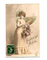 Carte Bonne Année Femme  Cachet - New Year