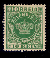 ! ! Mozambique - 1881 Crown 10 R (Perf. 12 3/4) - Af. 10a - Mh - Mozambique
