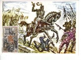 """FRANCE 1969 Carte Maximum 1er Jour  FDC  Grands Noms De L'histoire  """" Chevalier Bayard """" Par Decaris - 1960-69"""