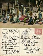 Indonesia, SUMATRA, Batak Women Weaving (1917) Postcard - Indonésie