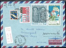 Fr - Affranchissement Francs Et CFA Sur Enveloppe Recommandée De St Denis De La Réunion 8-3-1976 Pour L'Autriche - TB - - 1961-....