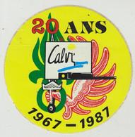 2° REP. Calvi. 20 Ans 1967/1987. Autocollant. Ø 110 Mm. - Landmacht