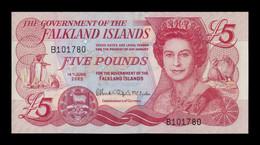 Islas Malvinas Falkland 5 Pounds Elizabeth II 2005 Pick 17 SC UNC - Falkland