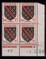 Coin Daté - YV 1002 N** Du 8.9.54 , 1 Point - 1950-1959