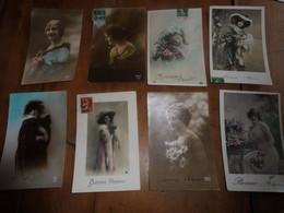 8 CPA   Sur Le Thème  BONNE ANNEE      ( Portraits De Femmes)  CPA écrites Dans Les Années 1900 ..ect - New Year