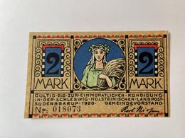 Allemagne Notgeld Suderbrarup 2 Mark - Verzamelingen
