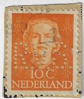 Netherlands 1908 / 1957 Stamp Perfin R.V.S. From Rotterdamsche Verzekering SociëteitRotterdam Insurance Society - Otros