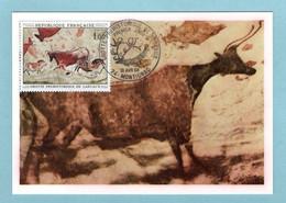 Carte Maximum 1968 - Grotte Préhistorique De Lascaux - YT 1555 - 24 Montignac - 1960-69