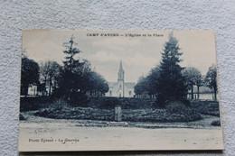 Cpa 1933, Camp D'Avord, L'église Et La Place, Cher 18 - Avord
