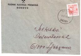 Rudnik Rjavega Premoga SENOVO (Braunkohle) SENOVO, 25.01.78 Umschlag - Storia Postale