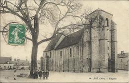 LERE ( Cher ) , L' Eglise , 1910 , CPA ANIMEE - Lere