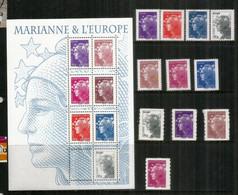 Marianne & L'Europe/Marianne De Beaujard. Bloc-feuillet + 11 Timbres Neufs ** (inclus Roulettes,adhesifs) Côte 40 Euro - 2008-13 Maríanne De Beaujard