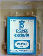 PRINZ Exclusiv / 26 X 43 Mm / Schwarz - Black - Noir / Klemtaschen, Mounts, Pochettes / 25 Pieces Cut-to-sizes - Sobres Transparentes