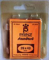 PRINZ Standard / 26 X 43 Mm / Schwarz - Black - Noir / Klemtaschen, Mounts, Pochettes / 25 Pieces Cut-to-sizes - Sobres Transparentes