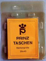 PRINZ / 26 X 43 Mm / Schwarz - Black - Noir / Klemtaschen, Mounts, Pochettes / 25 Pieces Cut-to-sizes - Sobres Transparentes