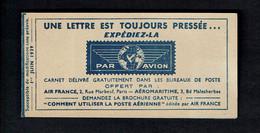 France Booklet PAR AVION 1er Juin 1939 - Zonder Classificatie