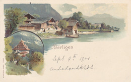 Switzerland Postcard Merligen Schloss Ralligen 1901 - Unclassified