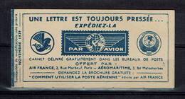 France Booklet PAR AVION Novembre 1939 - Zonder Classificatie