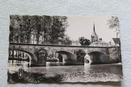 Cpsm, Argent Sur Sauldre, Le Pont Sur La Sauldre, Cher 18 - Argent-sur-Sauldre