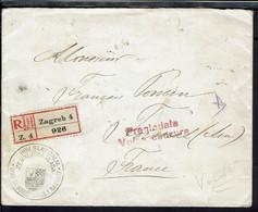 Yougoslavie - 1919 - Enveloppe Recommandée De Zagreb Pour Foissiat (Fr) Contrôle De Censure Locale, Affr. Au Verso - - Cartas