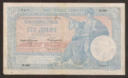 SERBIA. 100 Dinara 1905. Pick 12. - Serbia
